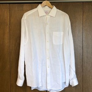 Brooks Brothers Traditional Fit Linen Button Down